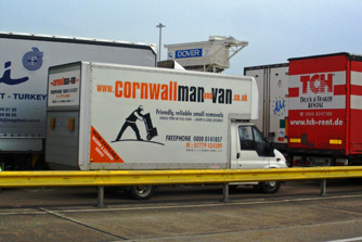 Cornwall man and van at Dover.